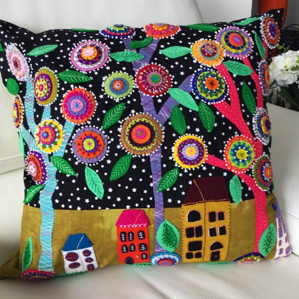 village life cushion