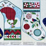 Christmas stocking panel 2