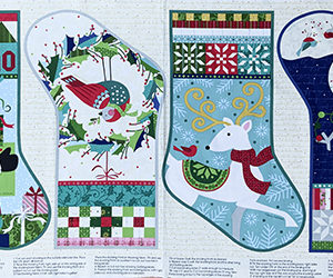Christmas stocking panel1