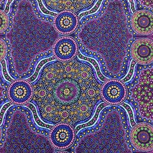 wild bush flowers purple web